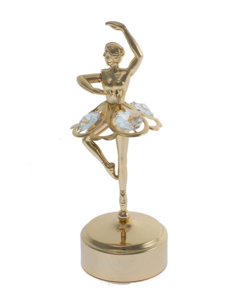 【超新作】 Musical Twirling Musical with Ballerina 24 K Gold Plated Figurine with Retire Swarovski Crystals ゴールド B00K4B955Q Retire Retire, シズショッピングサイト:7427e090 --- arcego.dominiotemporario.com