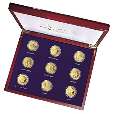 American Coin Treasures Tribute to Americas Most Beautiful Gold Coins, Set of 9 from UPM Global--DROPSHIP