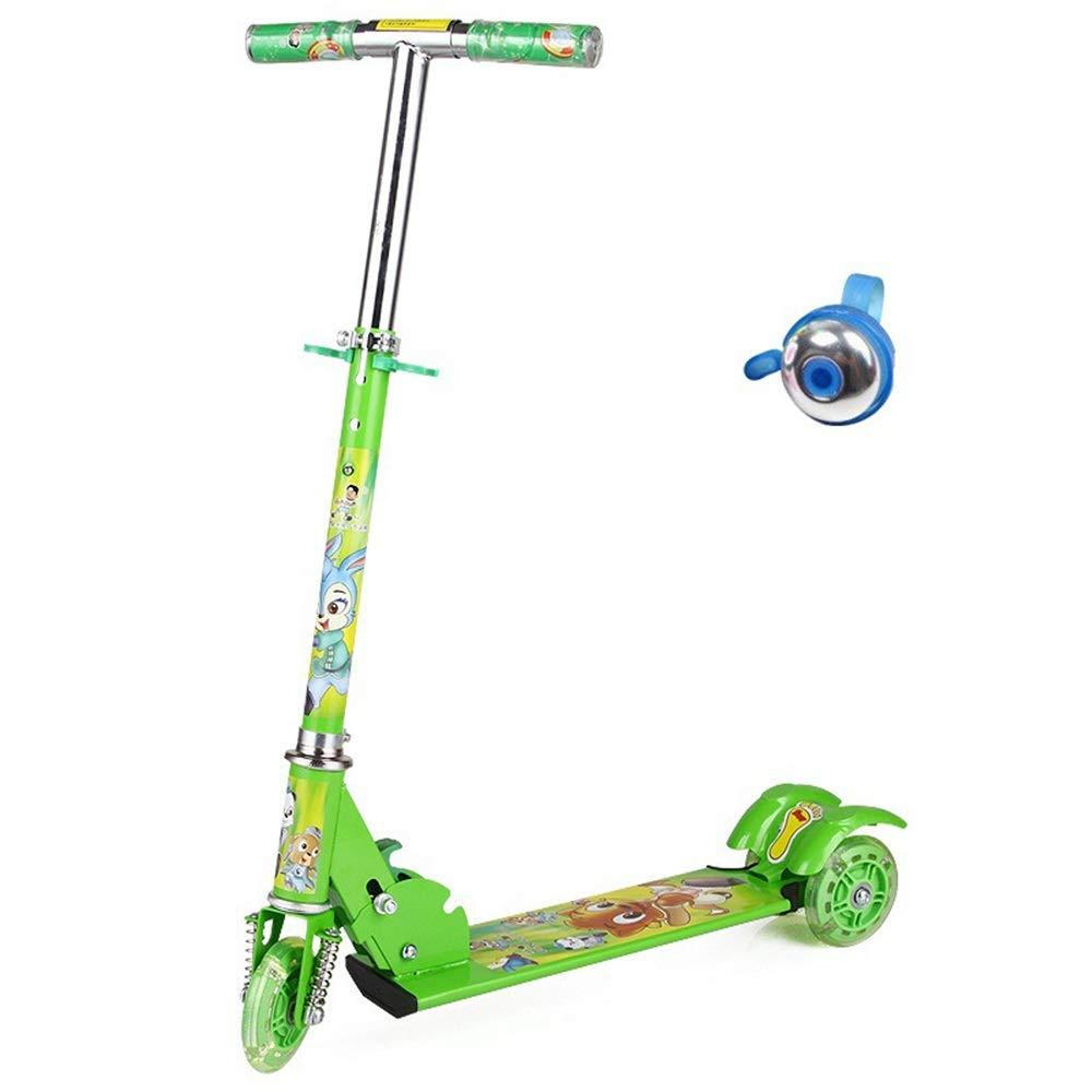 Wink zone 子供の三輪フラッシュスケートボードの自転車に適して Color、折りたたむことができる、持ち運びする、調整することができます B07QVJTPHR、子供の誕生日プレゼント 購入へようこそ Green ( Color : Green ) B07QVJTPHR, ときめきライフ コスメ館 2号店:44632406 --- m2cweb.com