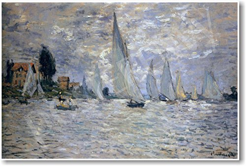 Boats Regatta at Argenteuil 1874 - Claude Monet - Art Print ()
