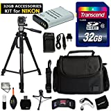 32GB Accessory Kit for Nikon CoolPix B700, CoolPix P900, CoolPix P600, CoolPix P610 includes 32GB High-Speed Memory Card + Fitted Case + EN-EL23 / ENEL23 Battery + AC/DC Charger + Accessories Kit