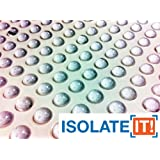 Isolate It!: Small Clear 9.5mm (Dia) X 3.8mm (H) Round Cabinet and Furniture Bumpers - 144 Pack