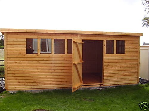 14x10 Apex Pent Shed 19mm 1120 Amazon Co Uk Garden