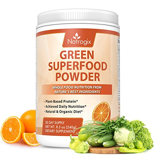 Natrogix Green Superfood Powder Orange, 30 servings, 8.5 Ounces