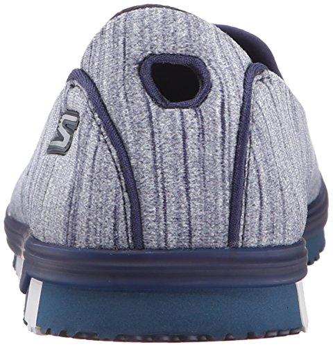 Basket, couleur Gris , marque SKECHERS, modèle Basket SKECHERS GO MINI FLEX Gris Navy