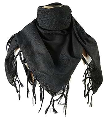 Premium Shemagh Head Neck Scarf - Black/Black