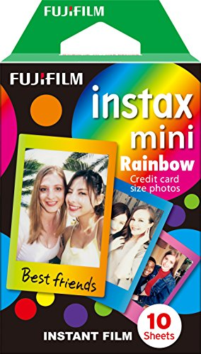 Fujifilm Instax Mini Rainbow Instant Film [International - Polaroid Online Frame