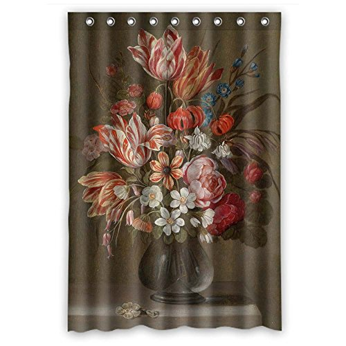 Eyeselect Bath Curtains Of Famous Classic Art Painting Flowers Blossoms Polyester Width X Height / 48 X 72 Inches / W H 120 By 180 Cm Best Fit For Bf Couples Lover Kids Girls. With Hooks