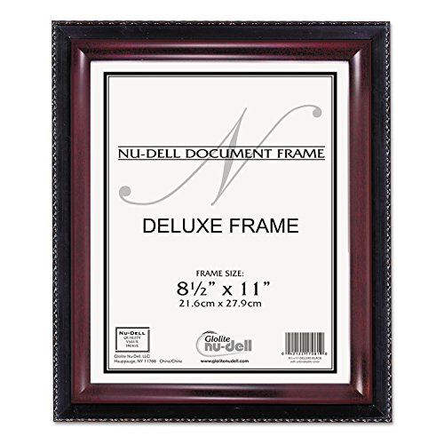 (NuDell 17402 Executive Document Frame, Plastic, 8-1/2 x 11,)