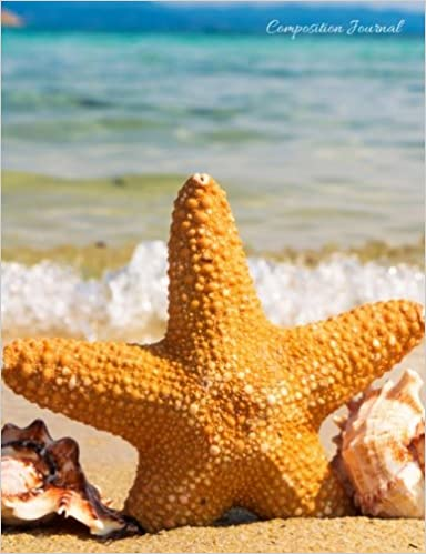 Composition Journal - Starfish and Sea Shells: 100 College Ruled Pages - Student Notebook