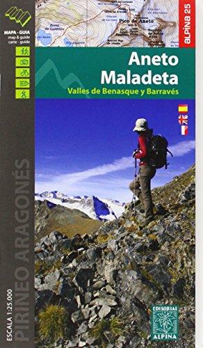 Descargar Libro Aneto Maladeta. Valles De Benasque Y Barravés. Escala 1:25.000. Mapa Excursionista. Castellano, English, Française. Alpina Editorial. Vv.aa.