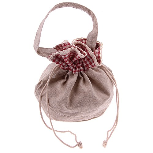 Bolsa de lino Snykk celdas rojo cuadriculado ambicionamos bolsa ideal para