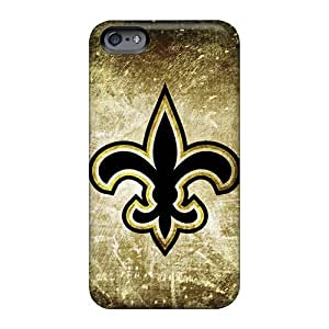 Anti-Scratch Hard Phone Case For Apple Iphone 6s With Provide Private Custom Colorful New Orleans Saints Rusty Look Image Customcases88