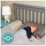 [1-Pack] hiccapop Inflatable Bed Rail for Toddlers | Travel Bed Rail, Blow-up Bed Bumper with Non-Skid Water-Resistant, Non-Slip Removable Cover | Portable Bed Rail for Hotel, Grandma's, Vacation