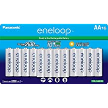 Panasonic BK-3MCCA16FA eneloop AA 2100 Cycle Ni-MH Pre-Charged Rechargeable Batteries, 16 Pack