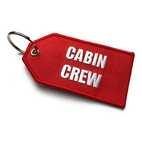 702f5776fc74 Cabin Crew / Do Not Remove From Aircraft Luggage Tag | Medium | Red / White  | aviamart