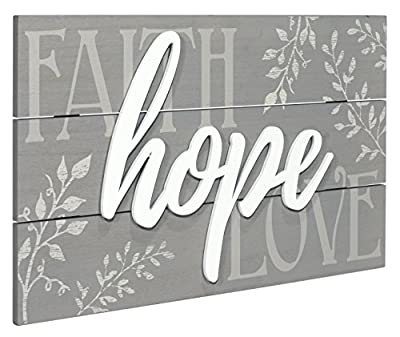 Malden International Designs 20070-01 Faith, Hope, Love Raised Sign