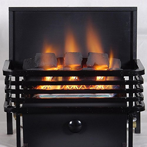Rasmussen 15-inch Chillbuster Fireplace Set With Vent Free Natural Gas Coalfire Modern Style Basket Burner - Remote Ready Safety Pilot