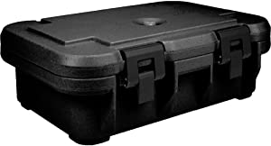 Cambro UPCS140110 Stackable Top Loading S-Series Ultra Pan Carriers, 12.3 Quart, Polypropylene, Black, NSF