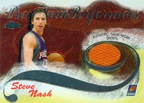 Steve Nash player worn jersey patch basketball card (Phoenix Suns) 2006 Topps Chrome Premium Performers #PPSN LE 304/400 ()
