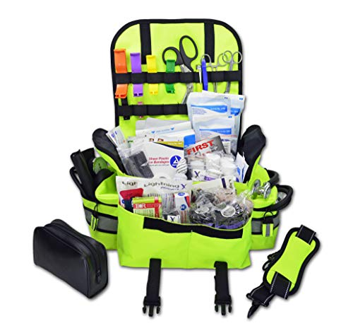 rst Responder EMT EMS Trauma Bag Stocked First Aid Fill Kit B (Fluorescent Yellow) ()