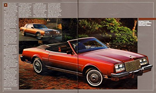 1984 BUICK FULL-LINE PRESTIGE COLOR SALES BROCHURE: RIVIERA, CENTURY, REGAL, SKYHAWK, SKYLARK, LeSABRE, ELECTRA & STATION WAGONS - USA - HUGE & THICK ORIGINAL - USA - NICE (Buick Lesabre Wagon)