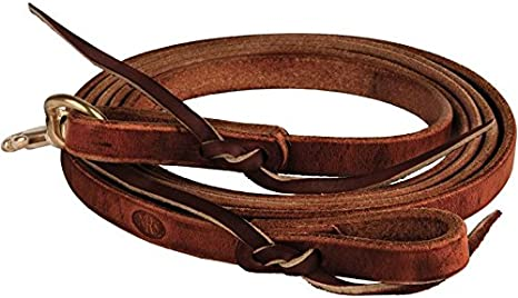 """5//8/""""Jose Ortiz Conditioned Harness Leather Split Reins 8 ft."""