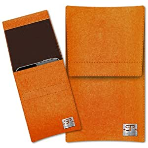 SIMON PIKE Cáscara Funda de móvil Sidney 2 naranja HTC Desire 500 Fieltro de lana