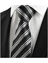 Men's Classic 100% Silk Striped Ties Woven JACQUARD Formal Suit Neckties