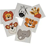DollarItemDirect Wild Zoo Animal Temporary Tattoos , Sold by 15 GROSSES