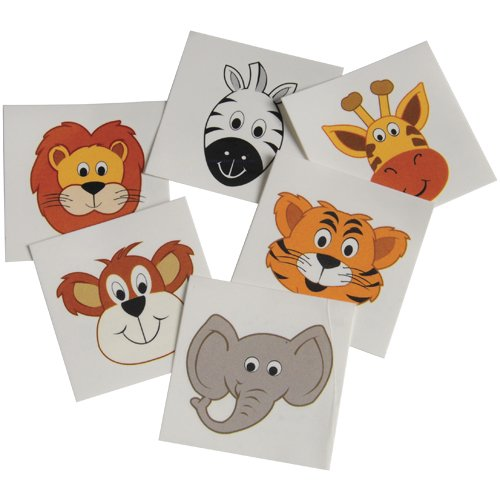 DollarItemDirect Wild Zoo Animal Temporary Tattoos , Sold by 15 GROSSES by DollarItemDirect (Image #1)