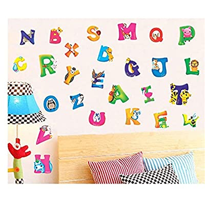 CH Wall Sticker Decal English Alphabet Animal Kids Room Decor DIY Self adhesive Removable