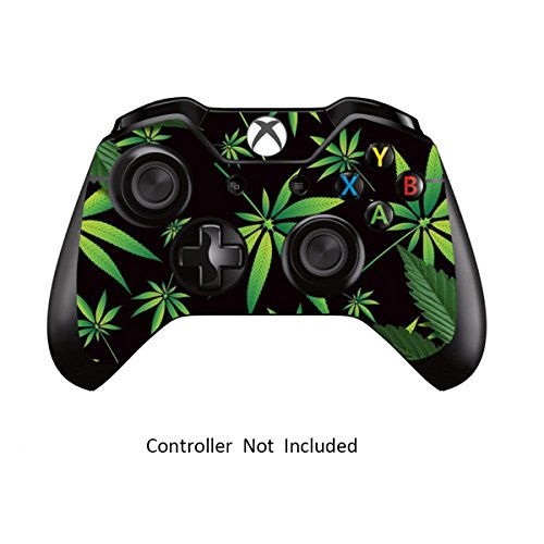 Skins Stickers for Xbox One Games Controller - Custom Orginal Xbox 1 Remote Controller Wired Wireless Protective Decals Covers - High Gloss Protector Accessories - Weeds Black