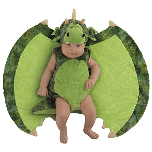 Princess Paradise Baby Swaddle Wings Drooly Drac Deluxe Costume, Darling Dragon 0/3M