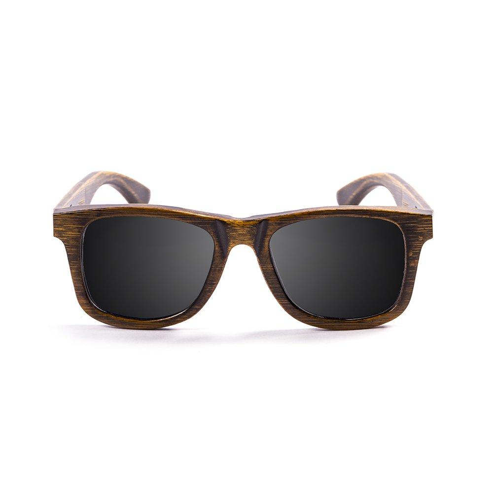 Ocean Sunglasses Wood Victoria - Gafas de Sol polarizadas de Bambú - Montura : Negro - Lentes : Ahumadas (53002.01)