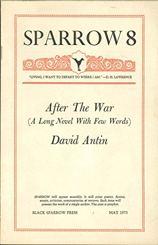After the War (A Long Novel With Few Words) (Sparrow; 8)