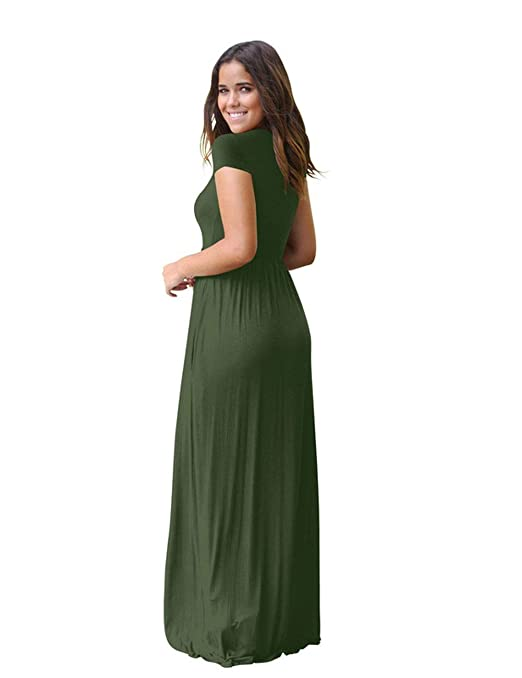 Vestido YONGYONGCHONG algodón de Color sólido para Damas de Verano ...