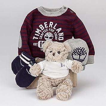 960ed0c136034 Coffret cadeau bébé Timberland Essentiel Gris-BebeDeParis- panier cadeau  bébé avec vêtements marque Timerland Taille 6 ...
