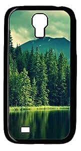 Lake and tree Custom Samsung Galaxy I9500/Samsung Galaxy S4 Case Cover Polycarbonate Black