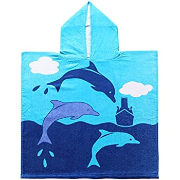 Amazon 100 cotton dolphin kids baby hooded bathbeachpool 100 cotton dolphin kids baby hooded bathbeachpool towel 24 voltagebd Images