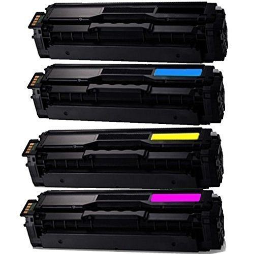 Print Oem Cartridge Yellow (SHOP AT 247 247T-SA-504S-00-CLT504SSet-80 Compatible Toner Cartridge Replacement for Samsung CLT-K504S,CLT-C504S,CLT-Y504S,CLT-M504S for Xpress SL-C1810W,C1860FW,CLX-4195FN,4195FW,CLP-415NW, Black, Cyan, Yellow, Magenta)