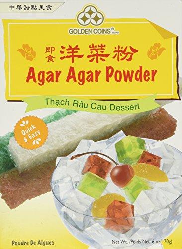 1 x 6oz Golden Coins Agar Agar Powder, Oriental Dessert, Product of USA (Usa Dessert)