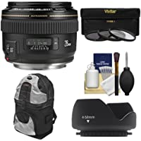 Canon EF 28mm f/1.8 USM Lens with Hood + 3 (UV/CPL/ND8) Filters + Backpack Case + Cleaning Kit for EOS 6D, 7D, 70D, 5D Mark II III, Rebel T3, T3i, T4i, T5i, SL1 Digital SLR Cameras