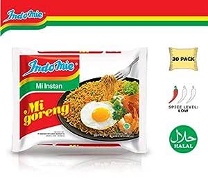IndoMie fideos fritos 100% Halal Mi Goreng (paquete de 30 ...