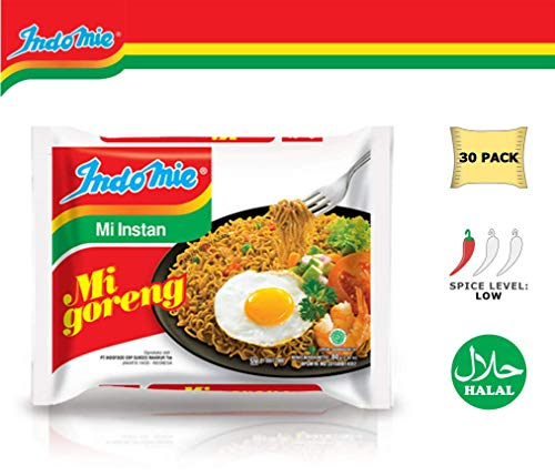 Indomie Mi Goreng Instant Stir Fry Noodles, Halal Certified, Original Flavor (Pack of 30)  (Packaging may Vary)