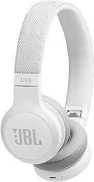 Amazon Com Jbl Live 400bt On Ear Wireless Headphones White Jbllive400btwhtam Electronics
