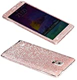 Dreams Mall(TM)Bling Glitter Crystal Diamond Whole Body Protector Film Sticker for Samsung Galaxy Note 4-Light Pink