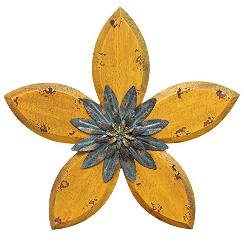 Stratton Home Decor SHD0164 Antique Flower Wall Decor (Antique Metal Home Decor)