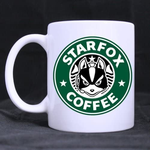 Funny Designed Star Fox Coffee Ceramic Coffee White Mug 11 Ounce Tea Cup Personalized Gift For Birthday Christmas And New Year By All Things Amz Amazon Ca Home Kitchen