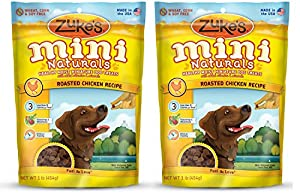 Zukes Mini Naturals lXDts Healthy Moist Training Treats, Chicken, 1 Pound (2 Pack)